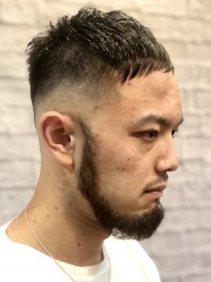【理容室】【髭】スキンフェード  クロップスタイル