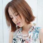 【外国人風/艶髪】グロスカラー+小顔カット(白髪染変更可)