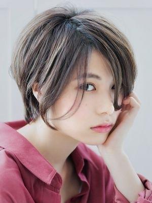 【◎ショートボブ】横顔美人な小顔スタイル