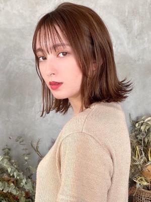【CELINE 西荻窪】薄め前髪×フォギーベージュ