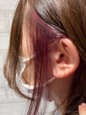 【インスタ人気】ピンクイヤリングカラー