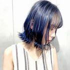 縮毛矯正+艶カラー(リタッチ)+カット