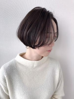 【feliceMICHI野田屋町店】前髪なし大人ショートボブ