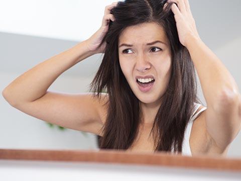 脂性肌のための抜け毛対策