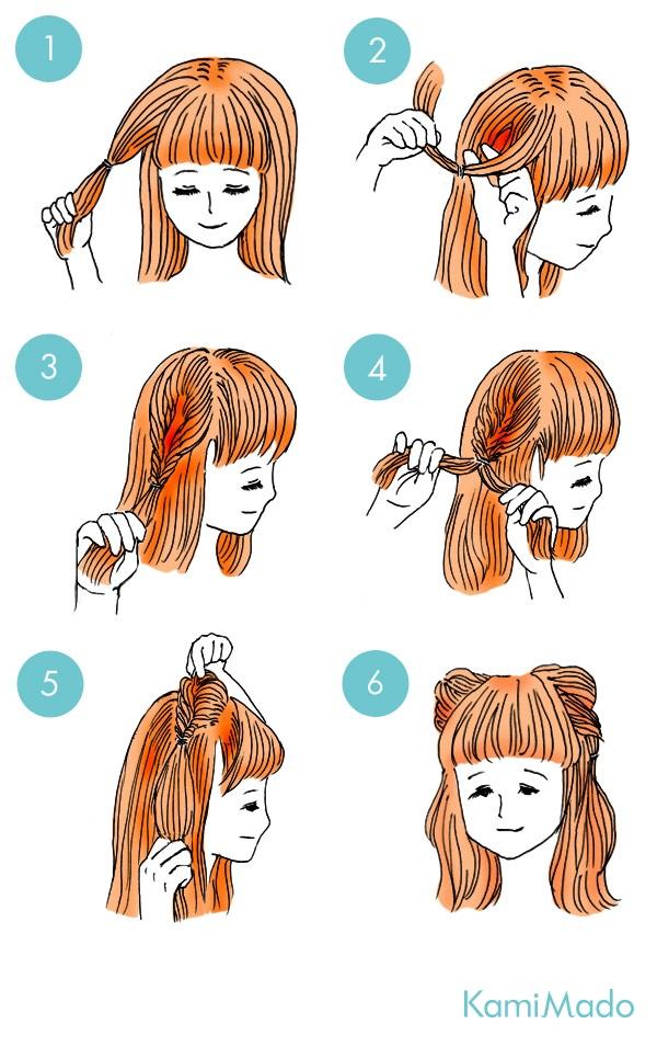 くるりんぱで簡単猫耳ヘアアレンジ【イラスト付き】ー髪のお悩み