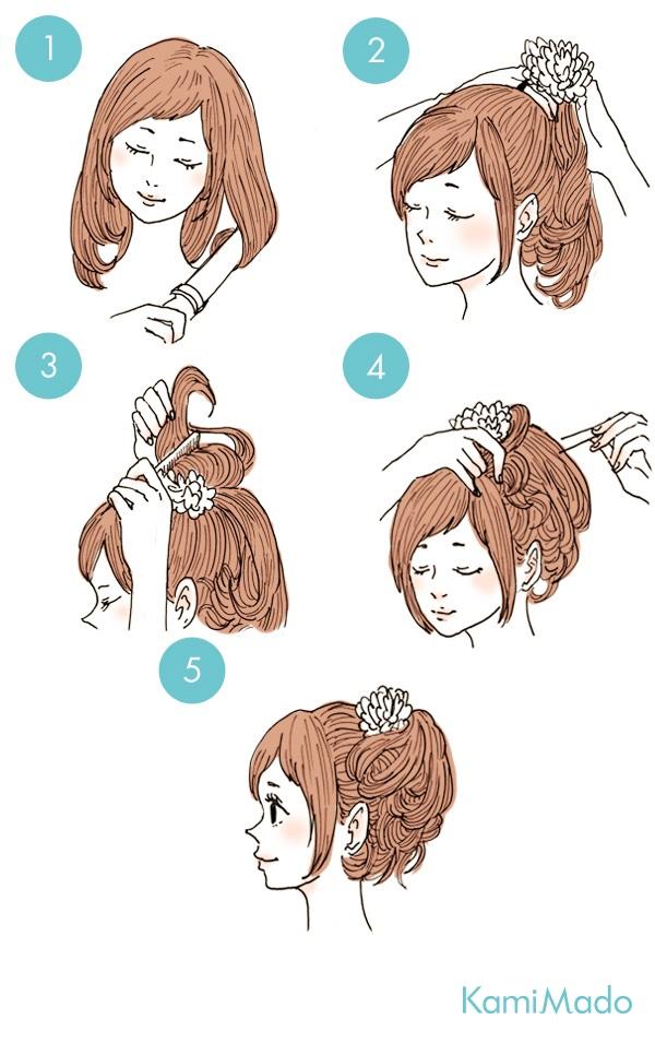 ポニーテールのヘアアレンジ