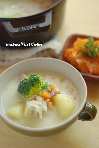 「チキンとおじゃがのホワイト豆乳シチュー」美髪の秘訣はタンパク質!