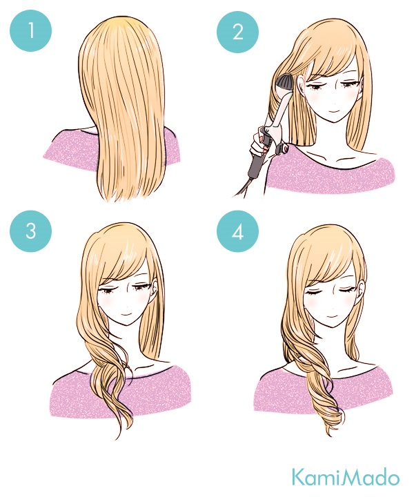 コテ使いの基本!ヘアアイロンで巻き髪をキレイに作る方法【イラスト付き】