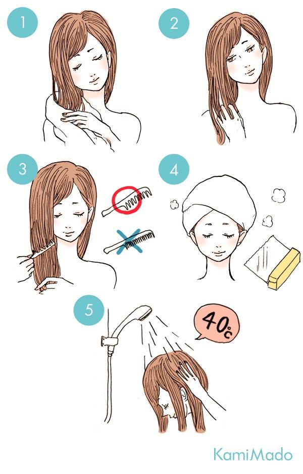 簡単サラツヤ髪に!自宅でできるヘアパックの手順