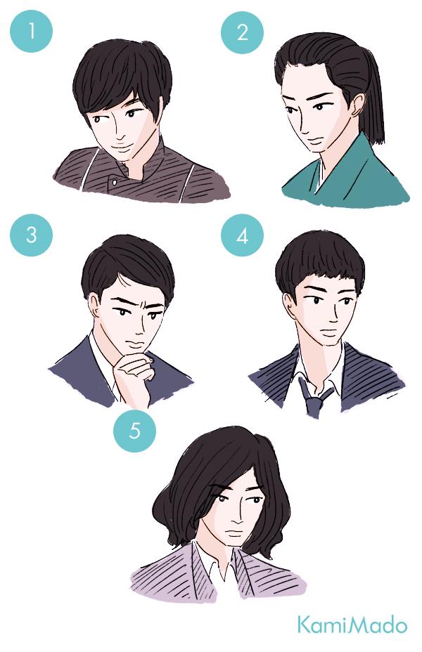 東出昌大の顔立ちを生かす黒髪ヘアスタイル集【イラスト付き】